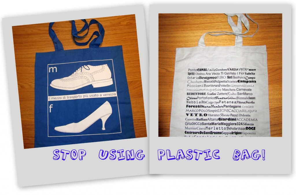 Stop using plastic Bag  Venezia