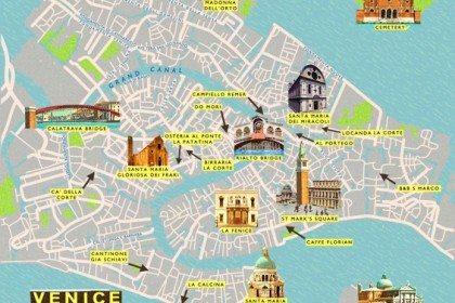 City Map of Venice by Anna Simmons
