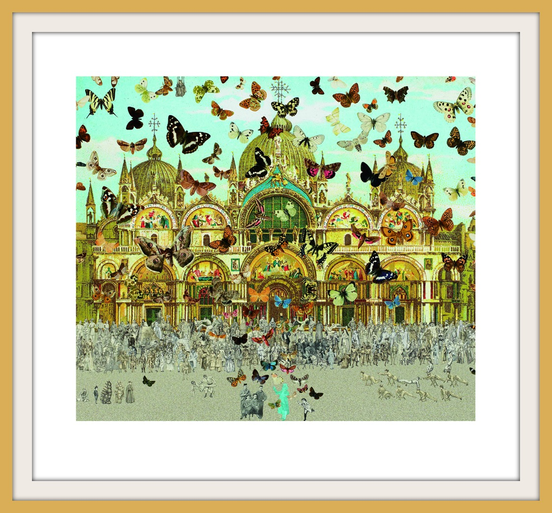 Sir Peter Blake Homage to Damien Hirst - The Butterfly Man, Venice