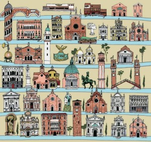 Wrapping Paper Venice by Anna Simmons