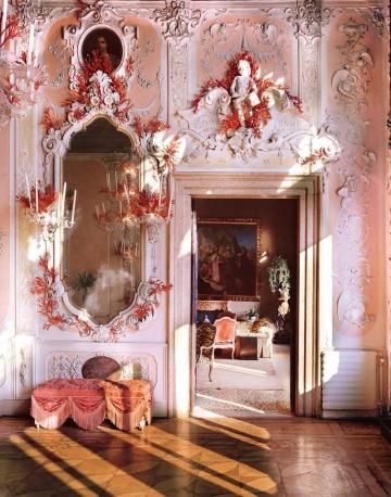 salone corallo particolare Palazzo Brandolini Venezia
