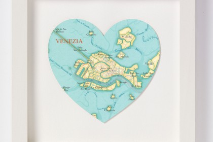 Venice Heart Map Artwork Fab