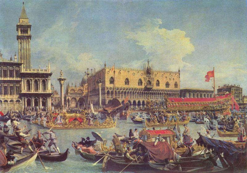 Canaletto,  La storia del Bucintoro 1730