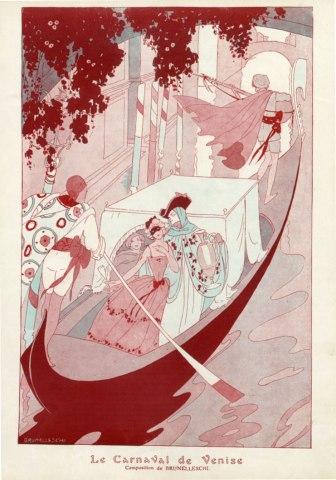 Le Carnaval de Venice Poster brunelleschi_1913