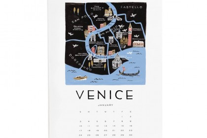 Venice Calendar Riflepaperco 2016