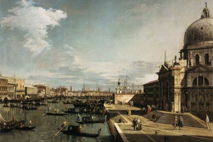 Entrance to the Grand Canal and the Church of La Salute Canaletto 1735