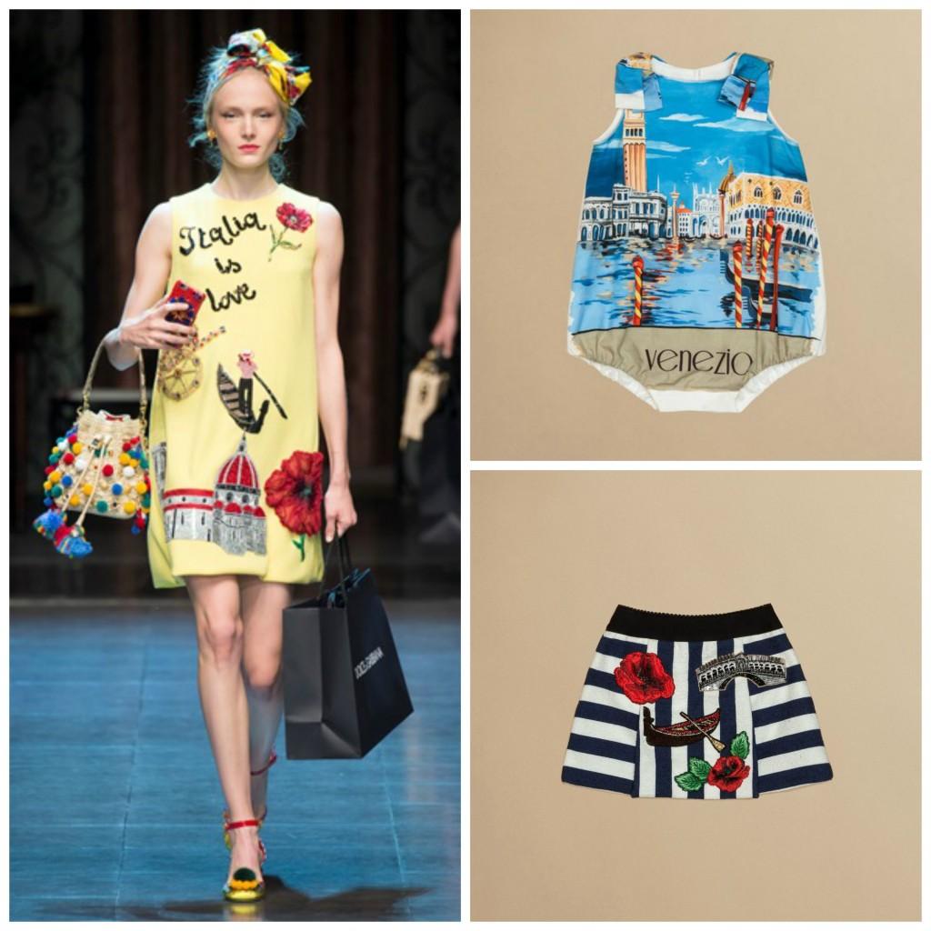 Collage Sfilata Dolce e Gabbana SS2016